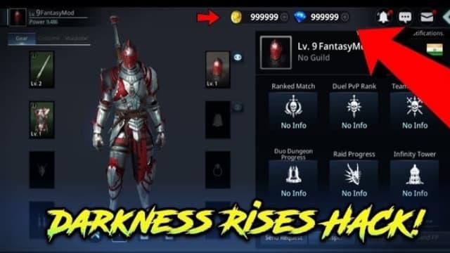 Những tính năng hack của darkness rises hack