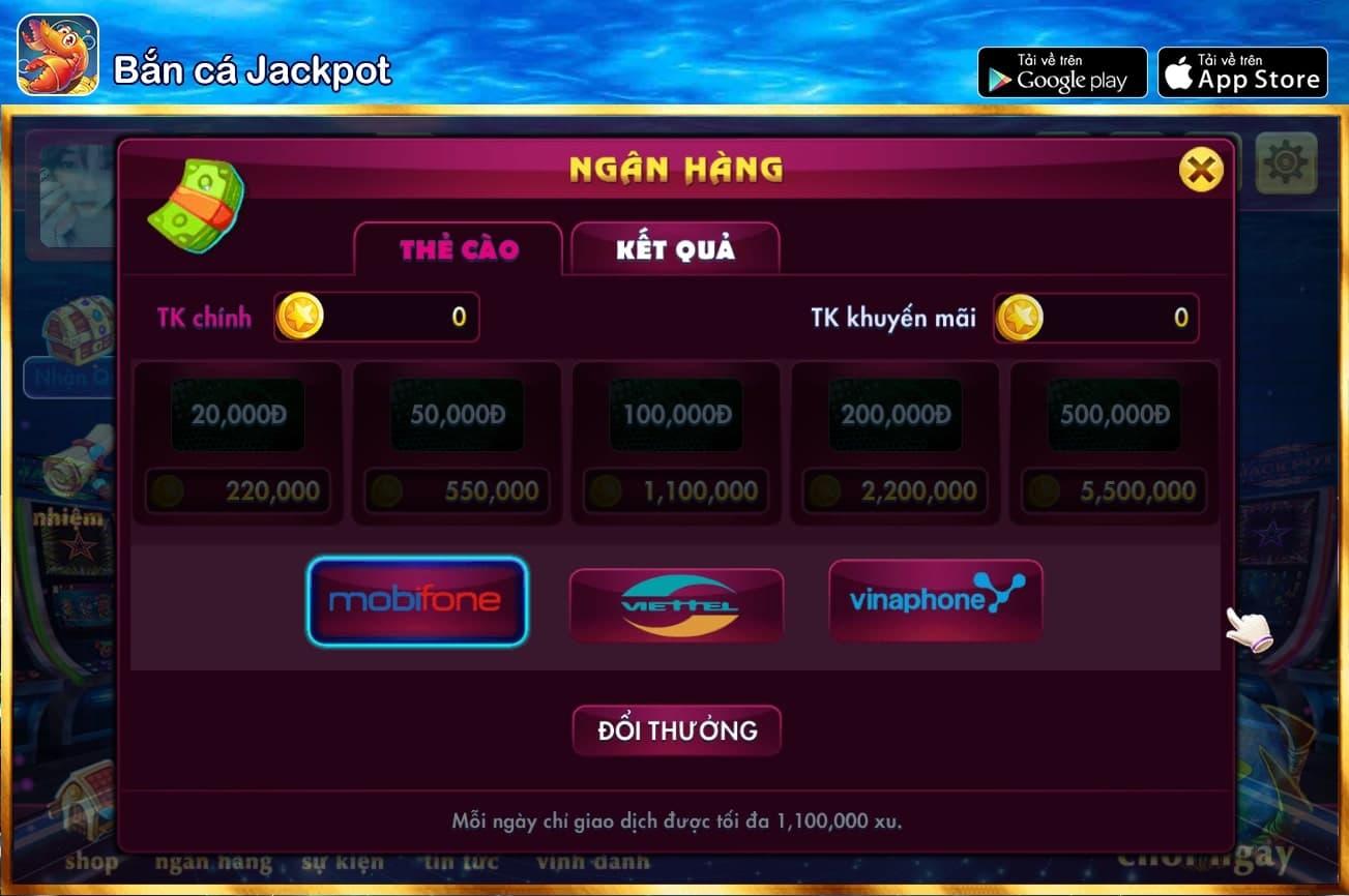 Cách thức đổi thưởng tại Bắn cá Jackpot