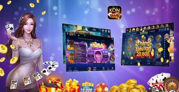 Giao diện bắt mắt tại cổng game KonClub