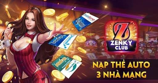 Cách thức nạp thẻ tại cổng game đổi thưởng Zenky Club