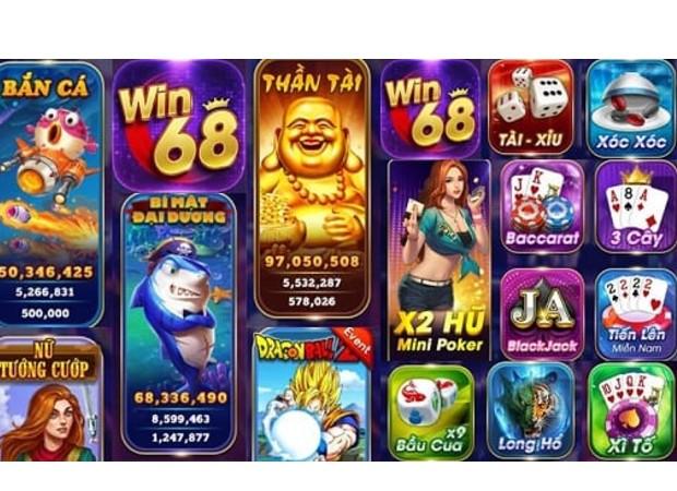 Các trò chơi hấp dẫn tại cổng game Win68