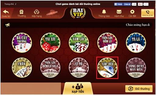 Kho game đa dạng tại game bài đổi thưởng vip