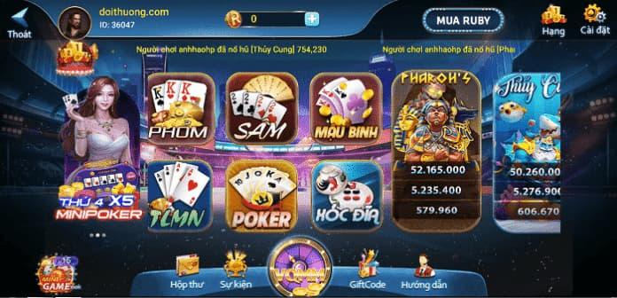 Đa dạng các trò chơi nhiều thể loại tại cổng game Rubvip