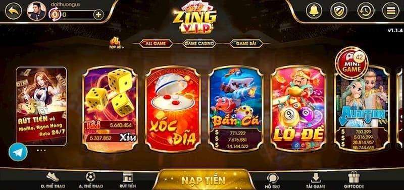 Đa dạng các trò chơi hấp dẫn tại cổng game Zing Vip