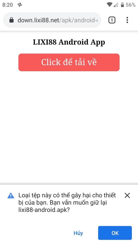 Bấm CLICK ĐỂ TẢI VỀ rồi chọn OK