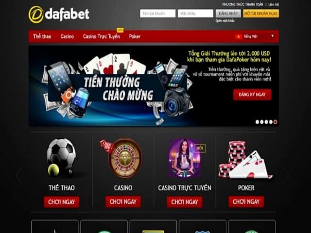 Các thể loại game tại cổng game dafabet