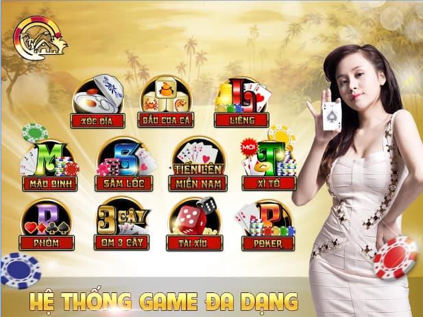 Kho game đa dạng tại cổng game Làng vui chơi đổi thưởng